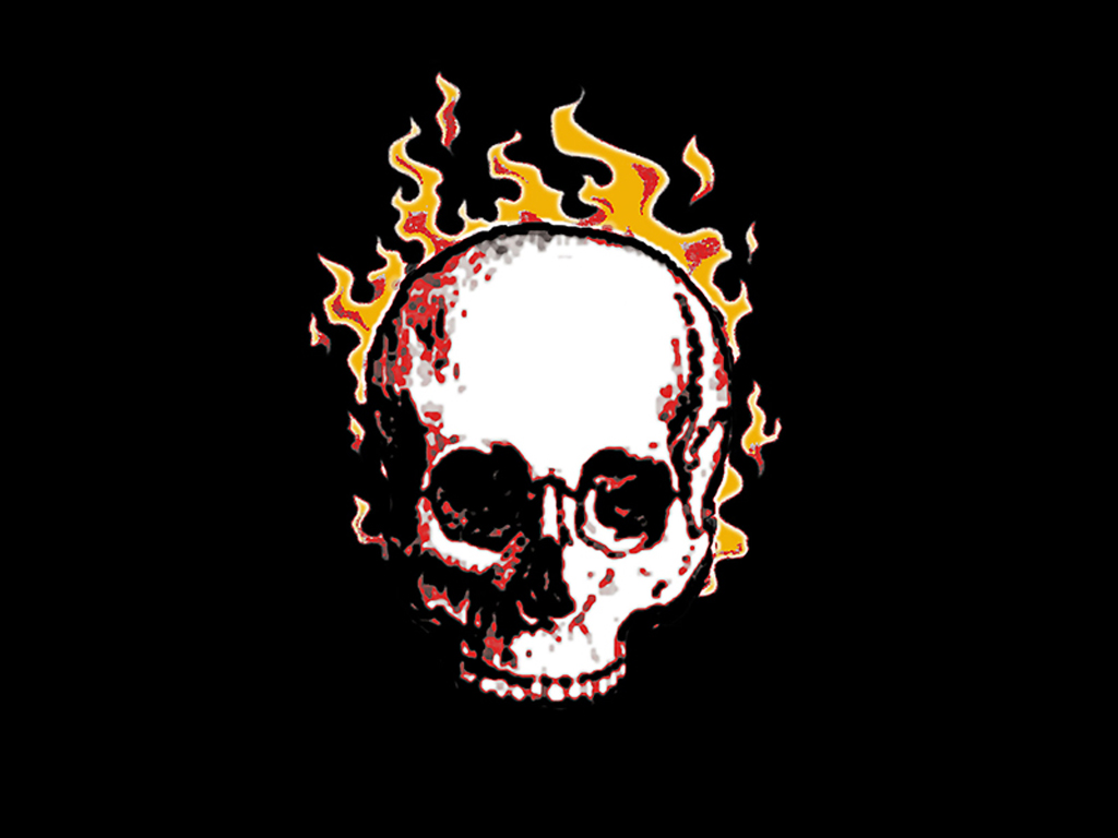 Flaming Skull Coloring Pages Pictures